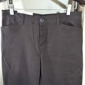 Sonoma Women's Modern Fit Brown Straight Leg Pants